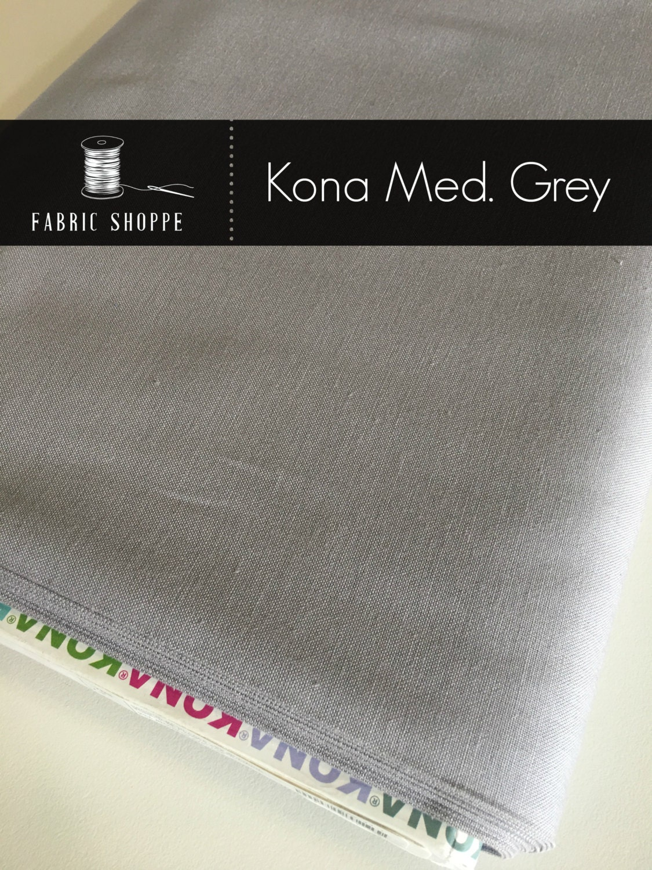 Kona solid fabric, solid quilt fabric, Kona MEDIUM GREY 1223, Gray ... : solid quilting fabric - Adamdwight.com