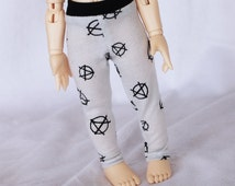 BJD YOSD Doll  clothes Anarchy print Littlefee legging Ready to ship MonstroDesigns