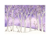 Snowy Landscape -  Set of Eight 5x7 Cards