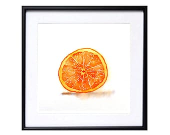 Wall Art Decor - Botanical art  Art Print Orange Fruit Watercolor Print / Laberge