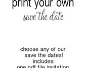 Any Save the Date template DIY printable | print your own wedding invitation