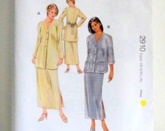 SAlE - Vintage Women's Pattern - Kwik Sew 2910 - Uncut - Jacket and Skirts - XS to XL - Sewing Pattern - Ladies