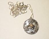 Golden Yellow Sapphire in Handmade Fine Silver Pendant