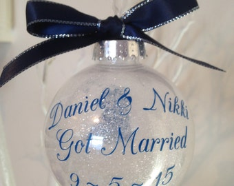 Got Married Christmas Bauble