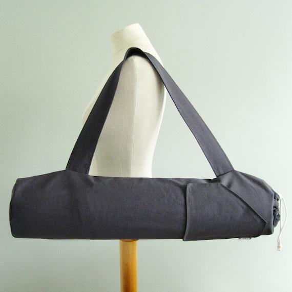Yoga Gift For Men. Yoga Mat Bag Large. Charcoal Grey Yoga Bag