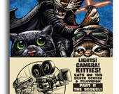 Lights! Camera! Kitties! Part II The Sequel - Cats in Movies and TV- 5 x 7 Postcard package of 8