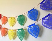 PRIDE HEARTS - Rainbow Papel Picado - Ready Made - Profits to Benefit Pulse Victims Fund