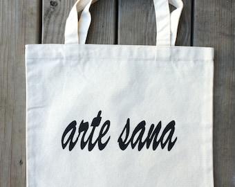 Art Heals, Arte Sana, Artesana, Artisan, Tote Bag, Canvas