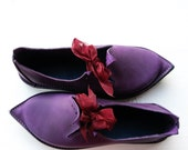 Fairy shoes, TITANIA, Handmade Leather Fairytale Shoes in purple perfections, pinks, etc, pick a colour