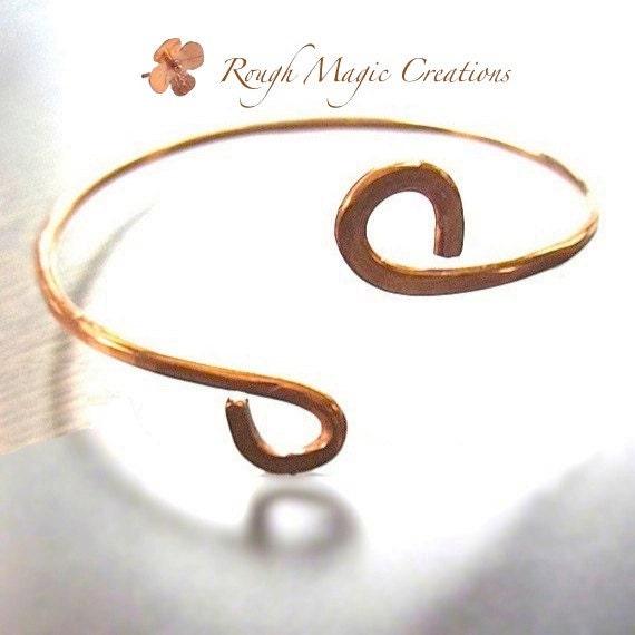 Minimalist Rustic Copper Cuff Simple Unisex Bracelet Jewelry Women & Men Friendship Bracelet Girlfriend Boyfriend Gift BFF Promise Bracelet