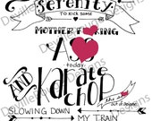 Digital Download: Train of Awesome hand-lettered printable. ADULT LANGUAGE