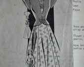 Vintage 40's Mail Order 8272 Sewing Pattern, Sundress and Cap Sleeved Jacket, Size 13, 31 Bust, 40's Era Fashion