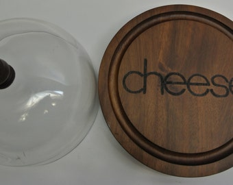 Vintage cheese server with cloche - new in box