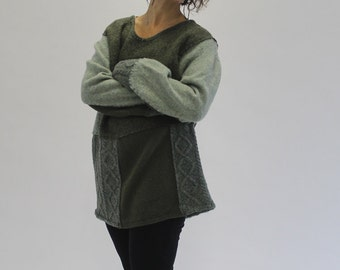 Recycled Sweater, Upcycled Sweater, Crispina Sweater, Hand Sewn, Wool Sweater