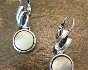 Silver & Abalone Shell Earrings