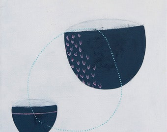 STUDIO SALE - Nurture 2 - Original Small Abstract Painting - Contemporary Art - Mid Century Modern - by Natasha Newton