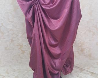 "Raspberry Pink Mini Dot Steampunk Bustle Skirt-To Fit 24-46"" Waist"