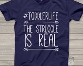 Funny #toddlerlife struggle is real DARK Tshirt - hysterical shirt for toddler boys and girls
