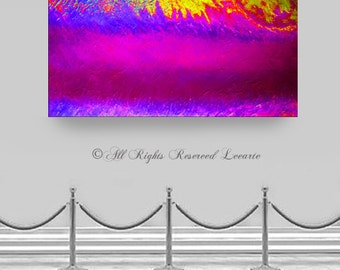 """Large acrylic modern ABSTRACT PAINTING original designer contemporary art 48"""" wall art on canvas Title: Royal Cosmic Light Rush by Leearte"""