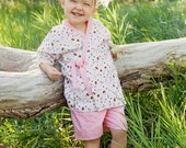 Summer Outfits - Girls Shorts - Girls Outfit - Jinbei - Toddler Girl - Toddler Outfit - sizes 2T 3T 4T 5 6 7 8 10 years