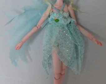 TINKERBELL, porcelain jointed puppet doll, handmade in the USA