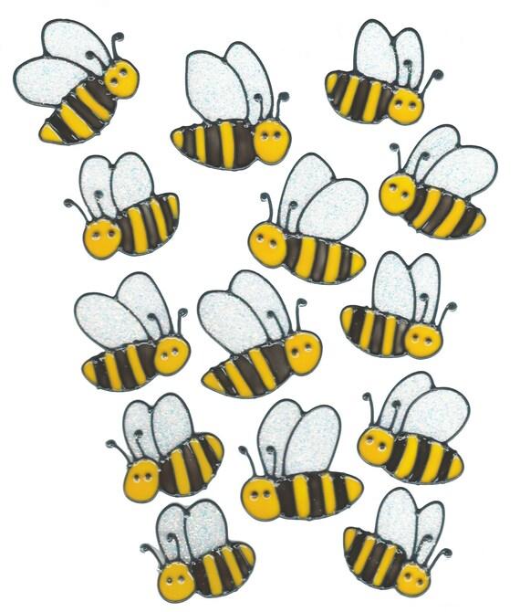 Flying Bumble Bee Window Clings