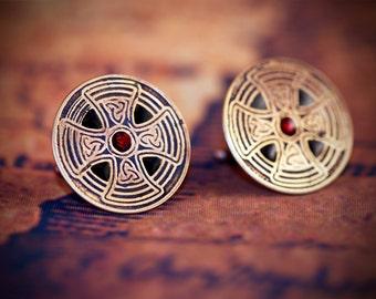 Celtic cross and trinity knot cufflinks, celtic cuff link, big cufflinks, statement cufflinks, evening cufflinks, bikers cufflinks, trinity