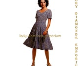 408 McCalls 6484 Womens Fitted & Flared Princess Seam Dress size 6 8 10 Bust 30.5 31.5 32.5 Vintage Petite Size Sewing Pattern