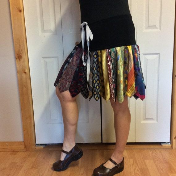 RESERVED Short Necktie Skirt With Yoga Waist/Pleated Tie