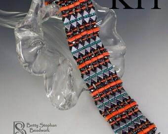 Full kit or refill- Magic Carpet Bracelet red bead woven bracelet