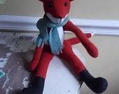 Hand Made Wool Fox Soft Toy