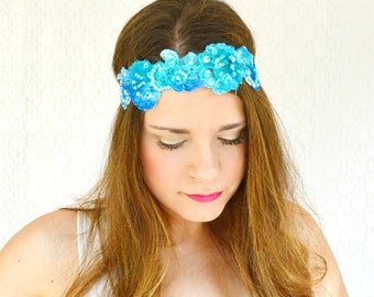 Boho Hair Accessories Lace Headband Adult Great Gatsby Headband Flower Crown Unique Headband Bohemian Style Clothing Boho Headband Unique