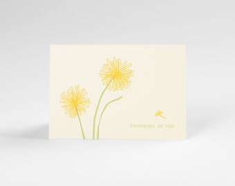 Dandelions Thinking of You Letterpress Note Set