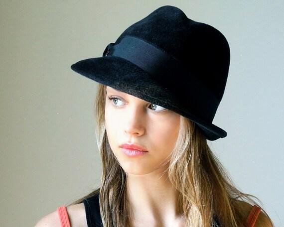 Felt Fedora Hat Women's Hat Fall Fashion Winter Accessories Custom Black Fedora Hat Winter Hat Men's Hat Warm Hat Stingy Brim Fedora Hat