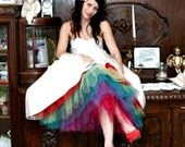 Miss Dulcie's Level 3 Petticoat ~ Extra fullness tulle with rainbow tulle in your choice of colors ~ sewn in layers