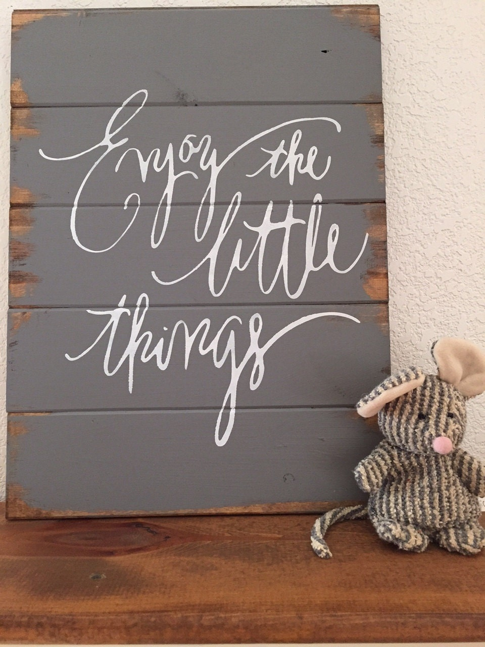 Enjoy the little things 13w x17 1 2 hand painted for Decoration quotes sayings