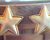 Vintage Earrings STAR Gold Tone Style Clip on