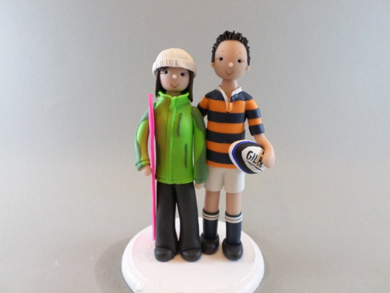 rugby wedding cake toppers uk customized wedding cake topper rugby amp snowboard fans 19469