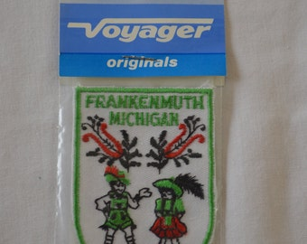 Vintage FRANKENMUTH MICHIGAN embroidered fabric patch Voyager Original NEW in package