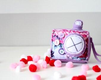 Lovely Lilac Plush Camera