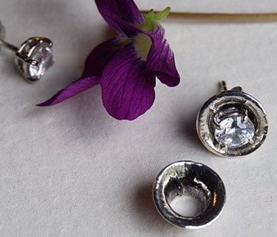 Earring Jackets in a Fluted shape Sterling silver or 14K Gold enhancers Ear Jackets