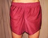 Vintage Burgundy mens Nylon Running Shorts M