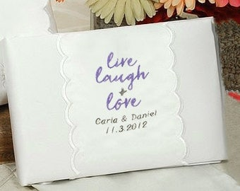 Personalized Live, Laugh & Love Wedding Guestbook - 20207