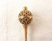 Antique Victorian Gold Filled Etruscan Style Scepter Stick Pin