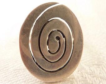 Vintage Size 6 Flat Spiral Sterling Ring