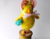 Easter Chick In Easter Bonnet