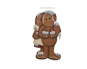 E-Pattern Originals by Sandra Paku - Instant Download Gingerbread pdf Pattern