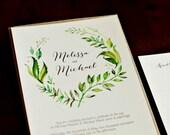 Watercolor Leaf Custom Wedding...