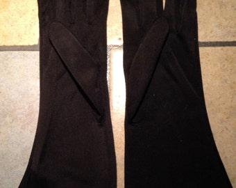 Black Nylon Day Gloves