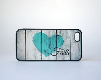 Rustic Wood Custom iPhone Silicone Case - unique iphone case, back to school, tech lover, geekery, iPhone 6 phone case, Faith, Inspirational
